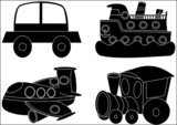 Transport-silhouettes poster