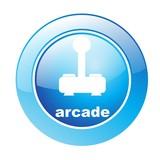 Button Arcade blau poster