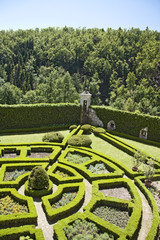 An 18th century formal garden in castle Pieskowa Skala.