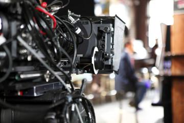 Digital cinema camera on a movie set