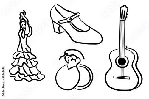 Flamenco - Dibujos para colorear