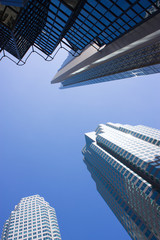 upward view in downtown of Toronto