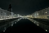 Gothenburg canal night scene