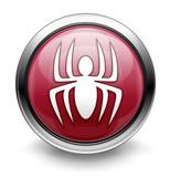Red malware/virus icon poster