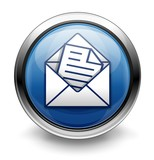 Blue compose email button/icon poster