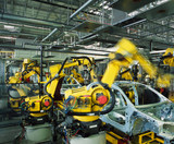 Fototapety car production line