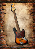 five string bass guitar poster