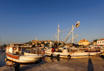 Fishing boats in Adriatic sea port of Vrsar, Croatia