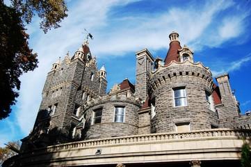 Skyline of Boldt Castle in Thousand Islands, New York