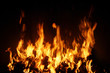 Burning fire, may be used as background