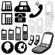 design elements / telephone icon set