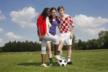 Fussballteam multikulturell