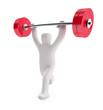 Figur Gewichtheber (mit Freistellungspfad)