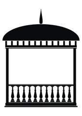 Rotunda (Arbour) black on white background.