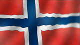 Norway - waving flag detail