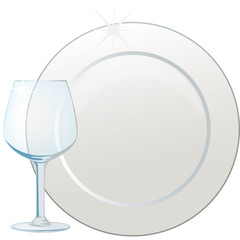 piatto e bicchiere
