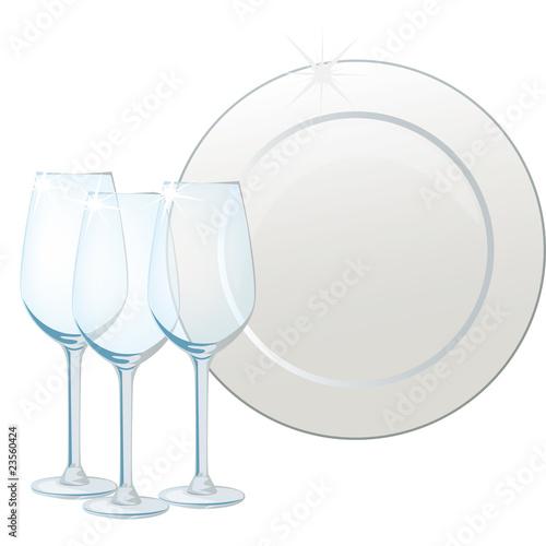 piatto e bicchiere - 23560424