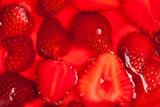 strawberries in gelatin poster