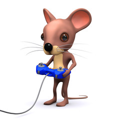3d Mouse plays videogame
