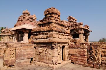 Ancient hindu temple in Pattadakal near Badami, Karnataka, India