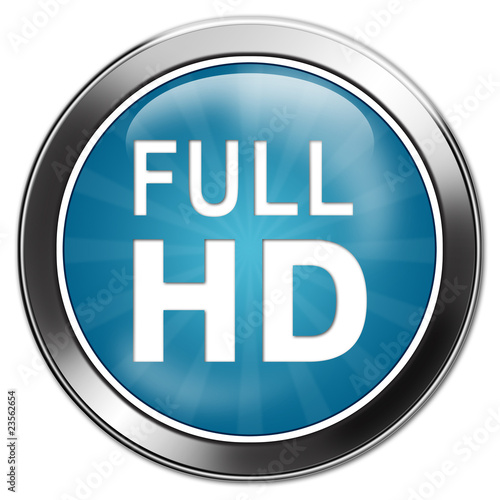 button full HD aqua