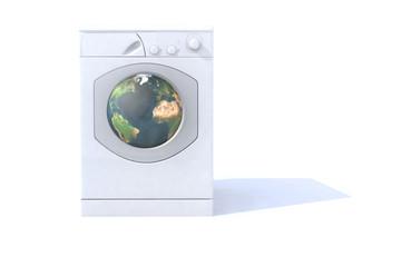 mondo nella lavatrice