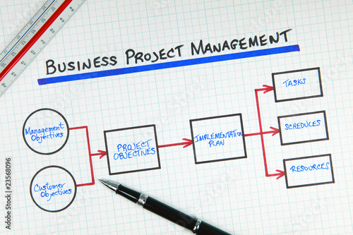 Business Project Management Process Flow Diagram