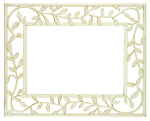 White metal frame