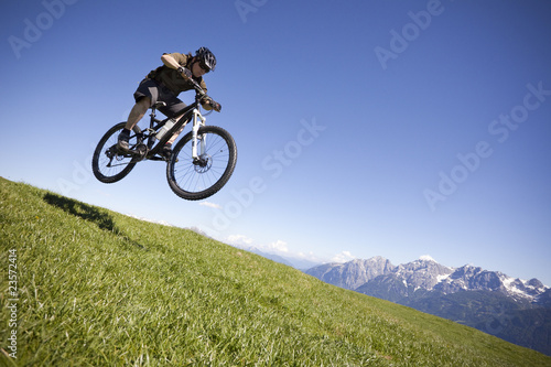 Mountainbike Sprung