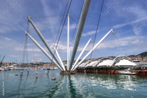 The Bigo in Port of Genoa, Italy