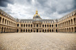 Great Courtyard of Les Invalides complex, Paris. France