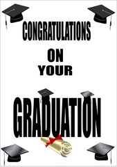grad border in newspaper headlines format with caps and diploma