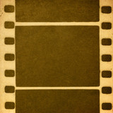 Retro film image. Imitates the one-color print on old paper. poster