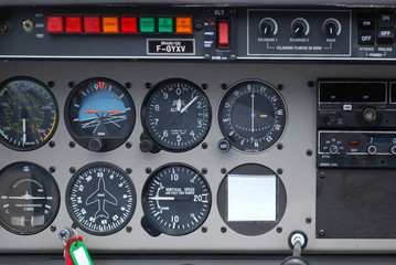 Instruments de bord, cockpit, avion