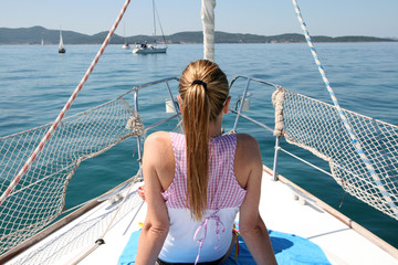 girl sailing