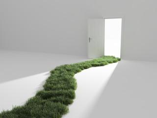 Open door into the light