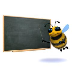3d Bee at the blackboard