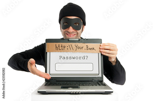 Leinwanddruck Bild Password thief (phishing)