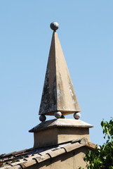 Architectural feature on house roof. Cannes. France