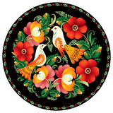 Russian handicraft ornament poster