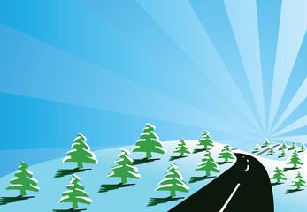 Infinity road. Vector illustration