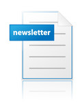 NEWSLETTER Icon (Web Read Latest Information Communication News) poster