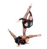 women showing rhythmic gymnastics poster