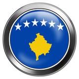 kosovo button stick poster