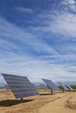 Field of Renewable Energy Photovoltaic Solar Panels poster