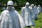 Korean war veterans memorial in Washington DC poster
