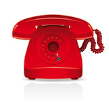 red retro telephone