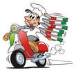 Leinwandbild Motiv Pizzaservice