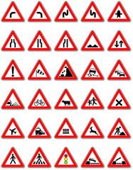 Gefahrenhinweise im Straßenverkehr
