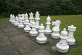outdoor chess set poster